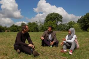 Robert, Nadel og en av de palestinske jentene.